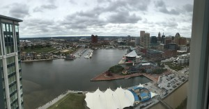 View from the Baltimore Marriott Waterfront